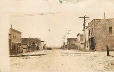 GHOST TOWN VIEW ?~1913 DELMONT TO BELLE FOURCHE SD 1913 PSMK~REAL PHOTO POSTCARD