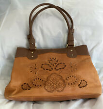 Tommy & Kate Brown Tan Leather Handbag Large Size Used For Display RRP £100