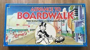 Retro Parker Bros 1985 Advance To Boardwalk Board Game complete EUC