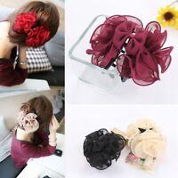 Rose Flower Korean Beauty Women Barrette Hair Claw Bow Jaw Clip Headwear