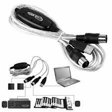 USB to Midi Schnittstelle Konverter Adapter Kabel Tastatur PC Win7 8 10 XP MAC