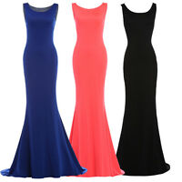 Cheap Long Mermaid Party Formal Evening Ball Prom Cocktail Dress Wedding Gown