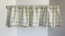 Valance LIVE LOVE LAUGH Custom Made Window Treatment Curtain 53 W x 14 L Greens
