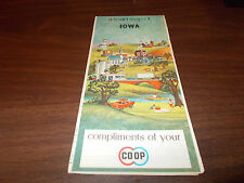 1965 Co-Op IOWA Vintage Road Map