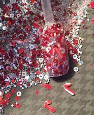 glitter mix acrylic gel nail art  SANTA'S  LIL' SWEETIES Christmas