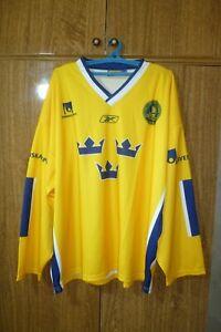Sweden Team Neh Ice Hockey Jersey Sverige Yellow Shirt Longsleeve Men Size L/XL