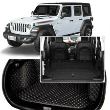 Full Covered Seat Pad Cargo Box Trunk Floor Mat Carpet Liner For Jeep Wrangler