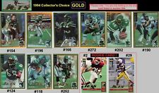 RARE- GOLD~AARON GLENN [JETS & TEXAS A&M] 1994 Collector's Choice~free shipping!