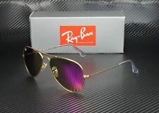 RAY BAN RB3025 112 4T Aviator Matte Gold Green Mirror Fuxia 58mm Mens Sunglasses
