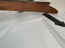 """Beautiful Antique WOODEN SKIS 81"""" Long Snow W@W!"""