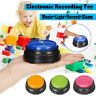 Recordable Talking Button Game Answer Buzzer Alarm Button Toy 4 color suit Led