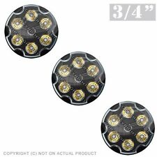 """3 Pack Gel Top Domed Glossy 3/4"""" 3M Premium Decal Stickers 44 MAG REVOLVER BLACK"""
