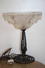 lampe Art déco fer forgé et verres signée EZAN