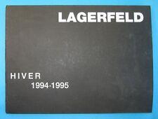 livre Karl Lagerfeld hiver 1994-1995 tres rare, very rare book