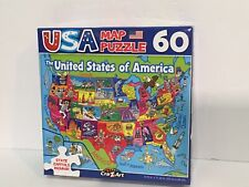 Jigsaw Puzzle USA MAP 50 United States of America 60 Pieces