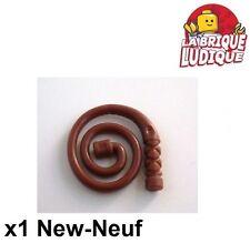 Lego - 1x minifig arme weapon fouet whip coiled marron/reddish brown 61975 NEUF