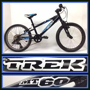 "Trek Bike MT60 Kids Mountain Bike 6-Speed 20"" Wheels Boys Girls Bicycle MT 60"