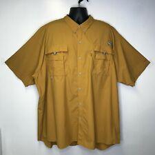 Columbia Pfg Bahama Ii Omni-Shade Short Sleeve Top Men's Size 4 Xt