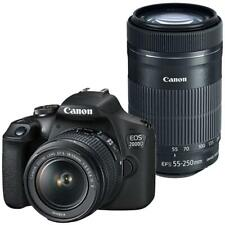 Canon EOS 2000D DSLR 24.1MP Camera with 18-55mm & Canon 55-250 IS II Lens
