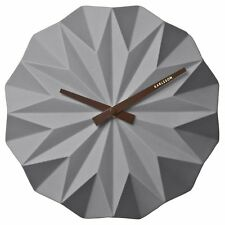 Karlsson Origami Ceramic Wall Clock Grey