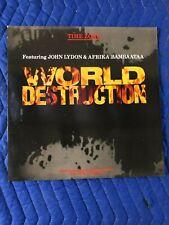 "Time Zone - World Destruction 12"" Vinyl EP"