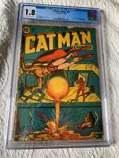 CATMAN COMICS #30 CGC 1.8 SCARCE; L.B. Cole bondage cvr!
