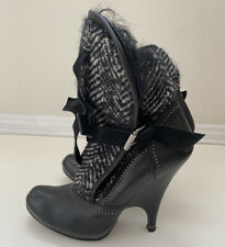 Roberto Cavalli Just Cavalli Runway Shearling Ankle Boots Booties 39 US 9 $1195