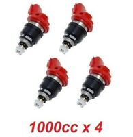 4 x 1000cc JECS Side Feed Fuel Injectors for NISSAN NISMO SR20 S13 S14 S15 E85