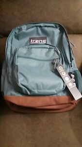 "Jansport Green& Brown backpack large with 15 "" laptop compartment  (NWT)"