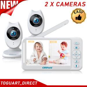 "4.3"" Wireless Baby Monitor Camera 2.4GHz HD Video Night Vision 2-Way-Audio-Talk"