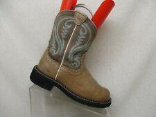 Ariat Fatbaby Brown Suede Leather Western Cowboy Boots Womens Size 6.5 B -100140