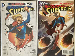 Huge Lot Of 14 2011 First Print Supergirl Run #0,1,2,3,4,5,6,7,8,9-13 See Pics