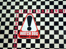 Watch Dog Alarm Sticker - Classic Car Van Vintage Security Camper Type 2 1 3 GT