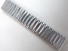"""Pontiac Mens Vintage Scissor Expansion Watch Band Stainless Steel 19mm 3/4"""" NOS"""