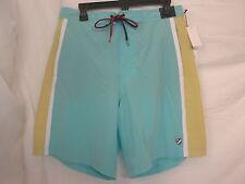 Cremieux Size L Large Bright Aqua New Mens Swimming Trunks Short Swimwear