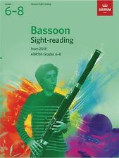 ABRSM Bassoon Sight-reading Grades 6-8 from 2018 -Same Day P+P