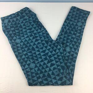 LuLaRoe TC Leggings Tall & Curvy Blue Green Aquamarine Geometric NEW