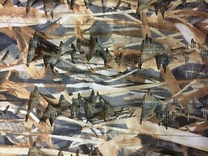 """CAMO NETTING TRUE TIMBER FLOODED TIMBER LEAFY  60"""" WIDE BY THE YARD"""