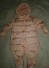 New Baby Gap Girls Snowsuit Bunting Warmest Down Pink White Polka Dot 0-6 Months
