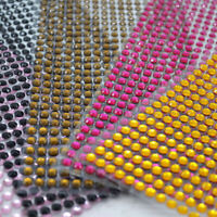 504 5mm Self Adhesive Rhinestones Diamante Jewel Gem Mixed Colour Clear Stick On