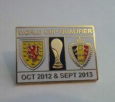Scotland Vs BELGIQUE 2013 badge