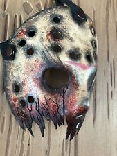 Jason Voorhees Cracked Half Mask Hand Crafted Friday The 13th Design 3