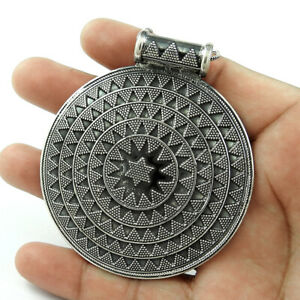 Halloween Gift HANDMADE 925 Solid Sterling Silver Jewelry Oxidized Pendant GG64