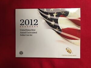 2012 US Mint Annual Uncirculated Dollar 6 Coin Set W Burnished Silver Eagle