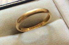 Precioso Calidad Damas temprano Vintage Full caracteriza sólido 22ct oro anillo de bodas