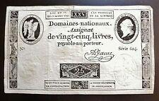 assignat de 25 LIVRES 1791   série 624