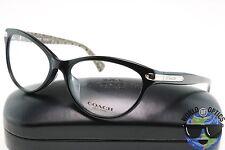 Coach RX Eyeglasses HC 6066F 5261 Black/Silver Frame w/Sand Logo [53-15-135]