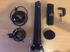 Auna MIC-900B USB Kondensator Mikrofon mit Spinne + Mikrofonständer + Poppschutz