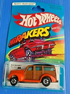 Hot Wheels Authentic Replica 40's woodie  Cracked Blister