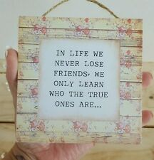 Handmade plaque sign gift sign friend friendship shabby chic present decor